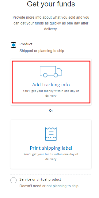How to send tracking information on PayPal to get the holds released soon (5)