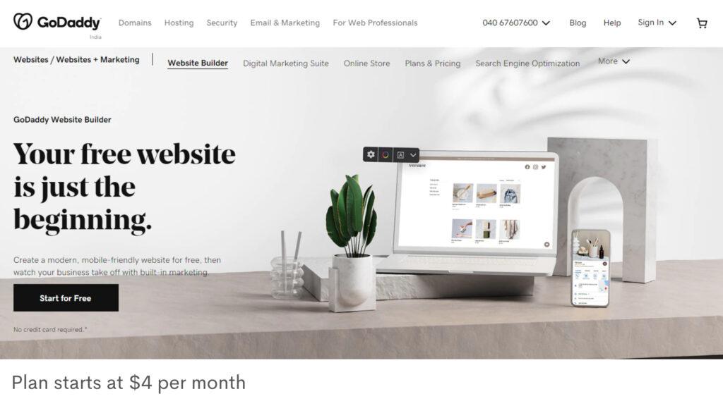 godaddy-cheap-website-builder-affordable-ecommerce-website-design-platform
